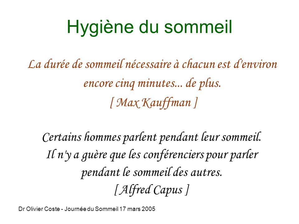 Dr olivier coste journ e du sommeil 17 mars ppt video online t l charger - Trouble du sommeil que faire ...